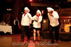 "performing ""The Three Chefs"" with Jason Rodgers and Chris Lee at the Cicada Club, Los Angeles 2011"